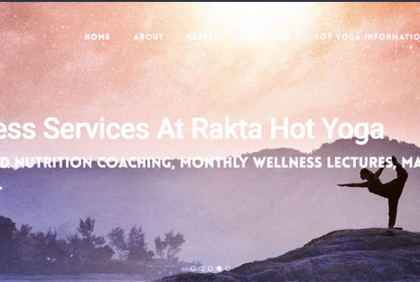 Website for Rakta Hot Yoga