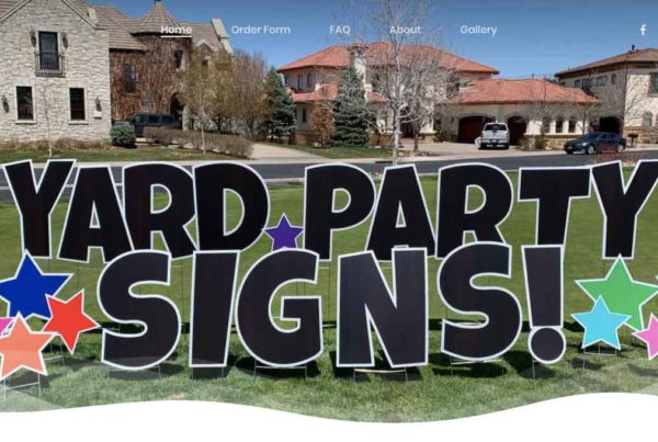 Yard Party Signs